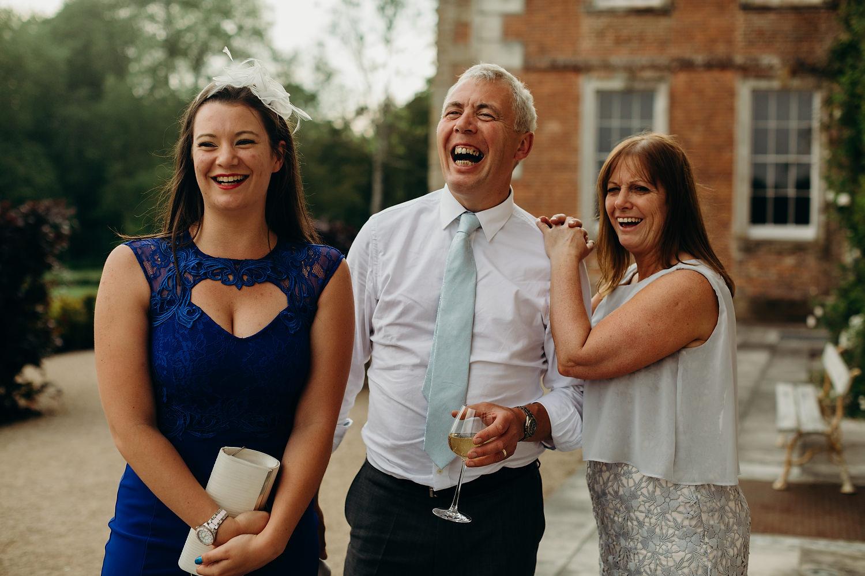 wedding guess laughing