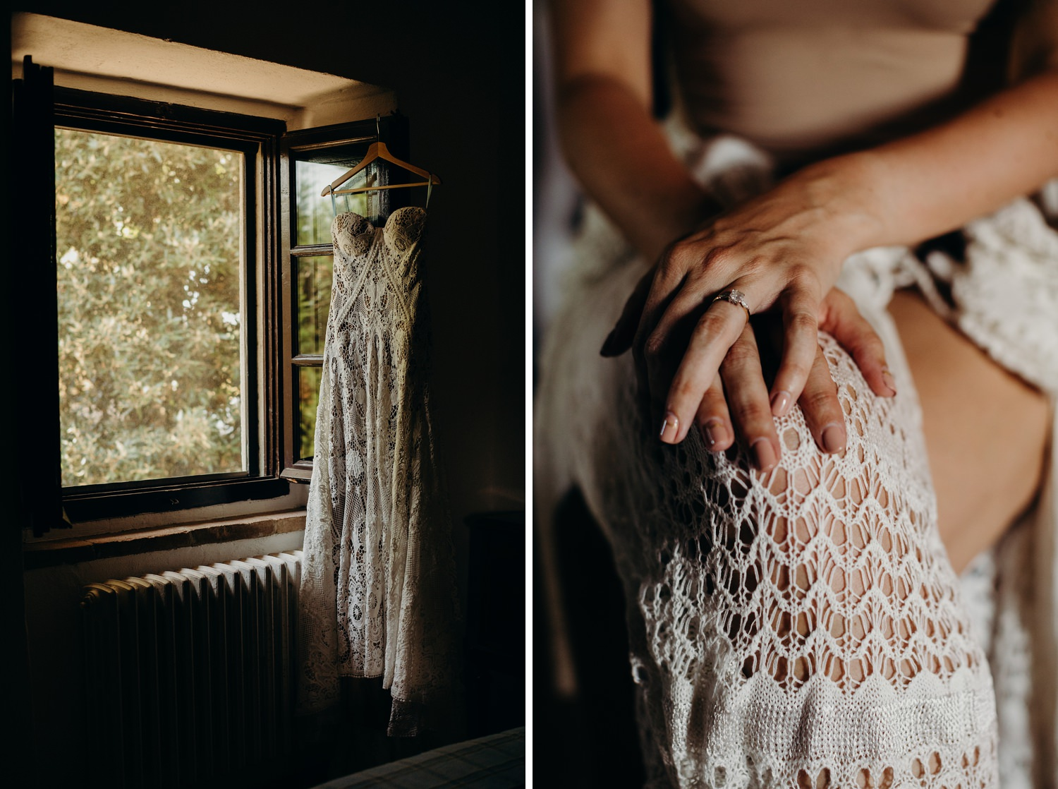 Crochet wedding dress