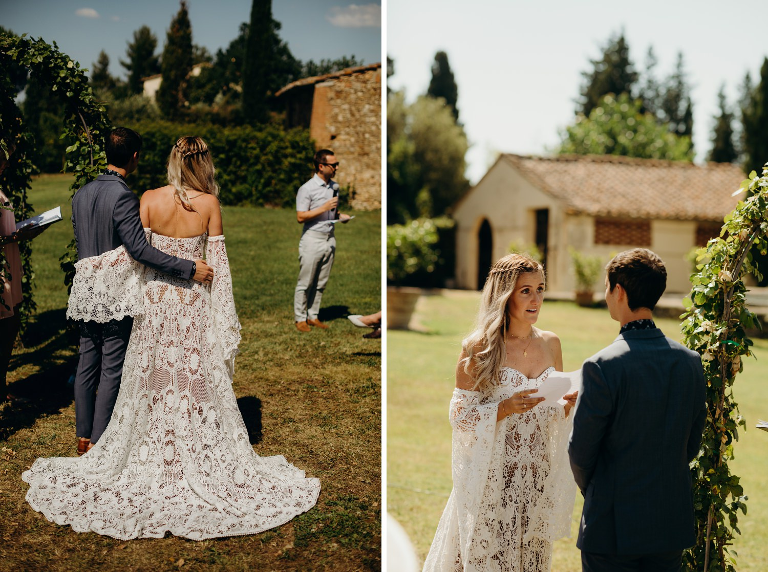 Tuscany wedding ceremony