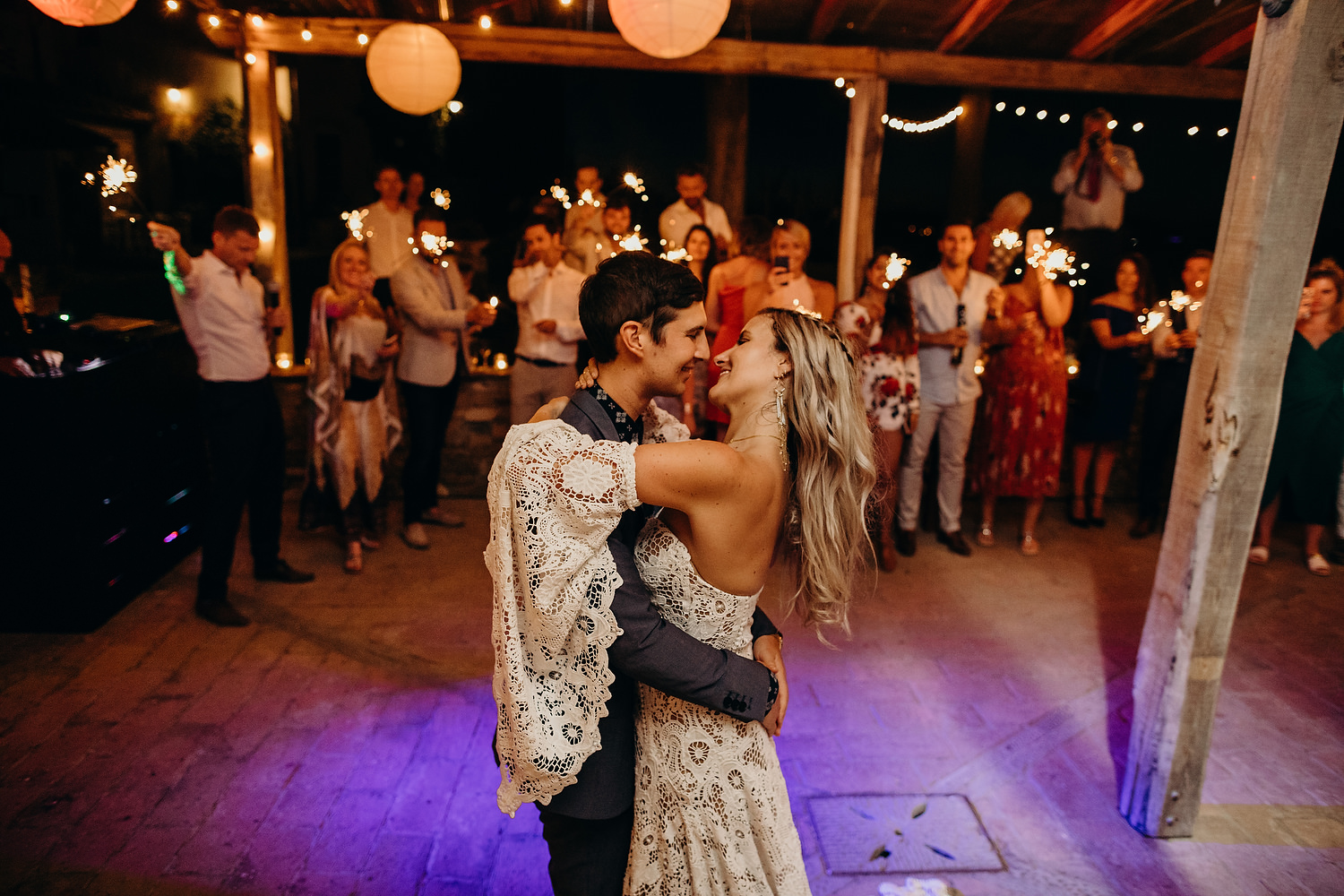 first dance at Fattoria La Loggia