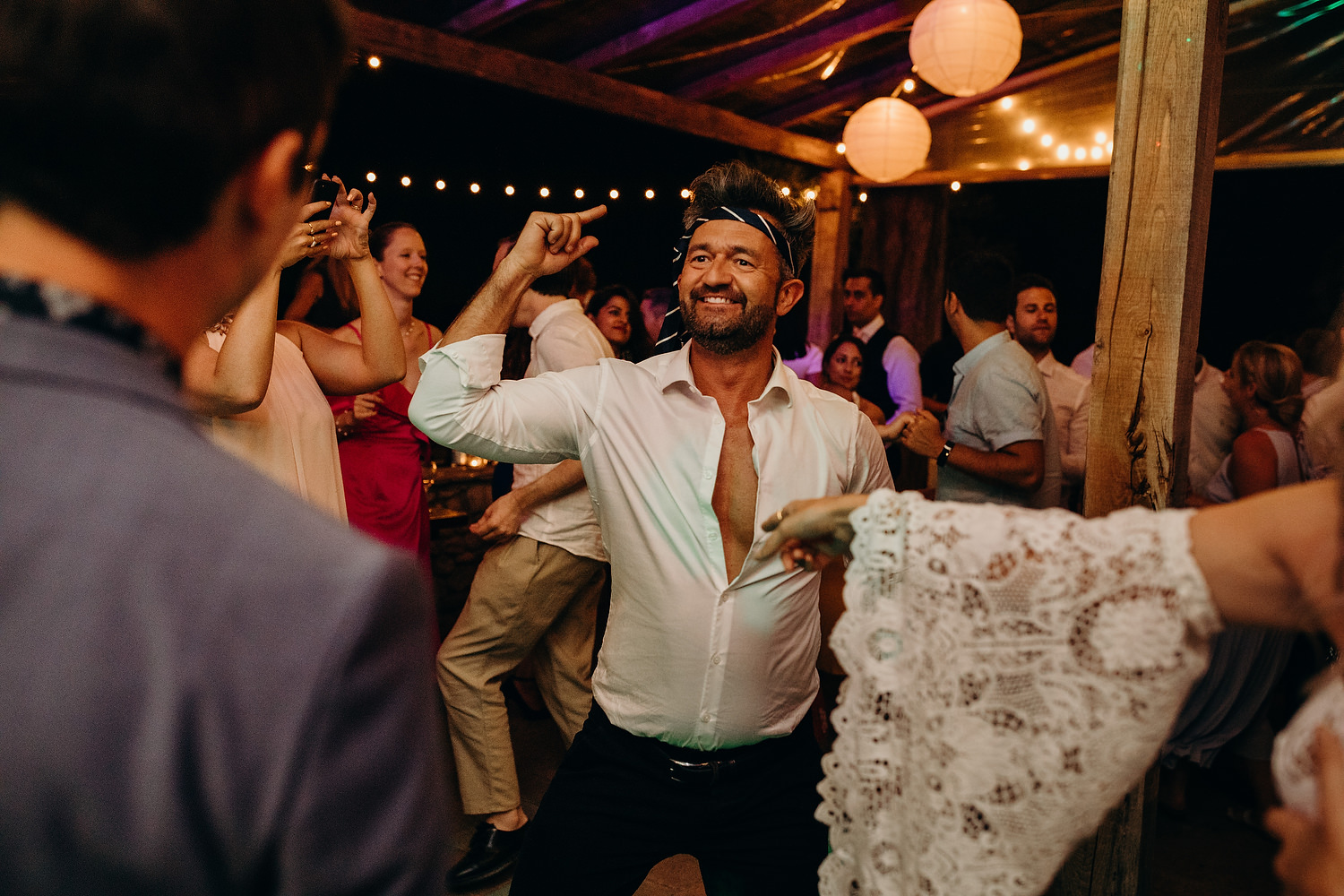 dancing at Tuscan Villa Wedding