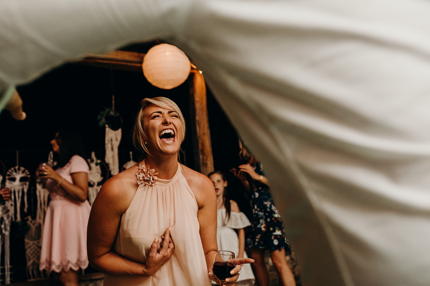 bridesmaid singing